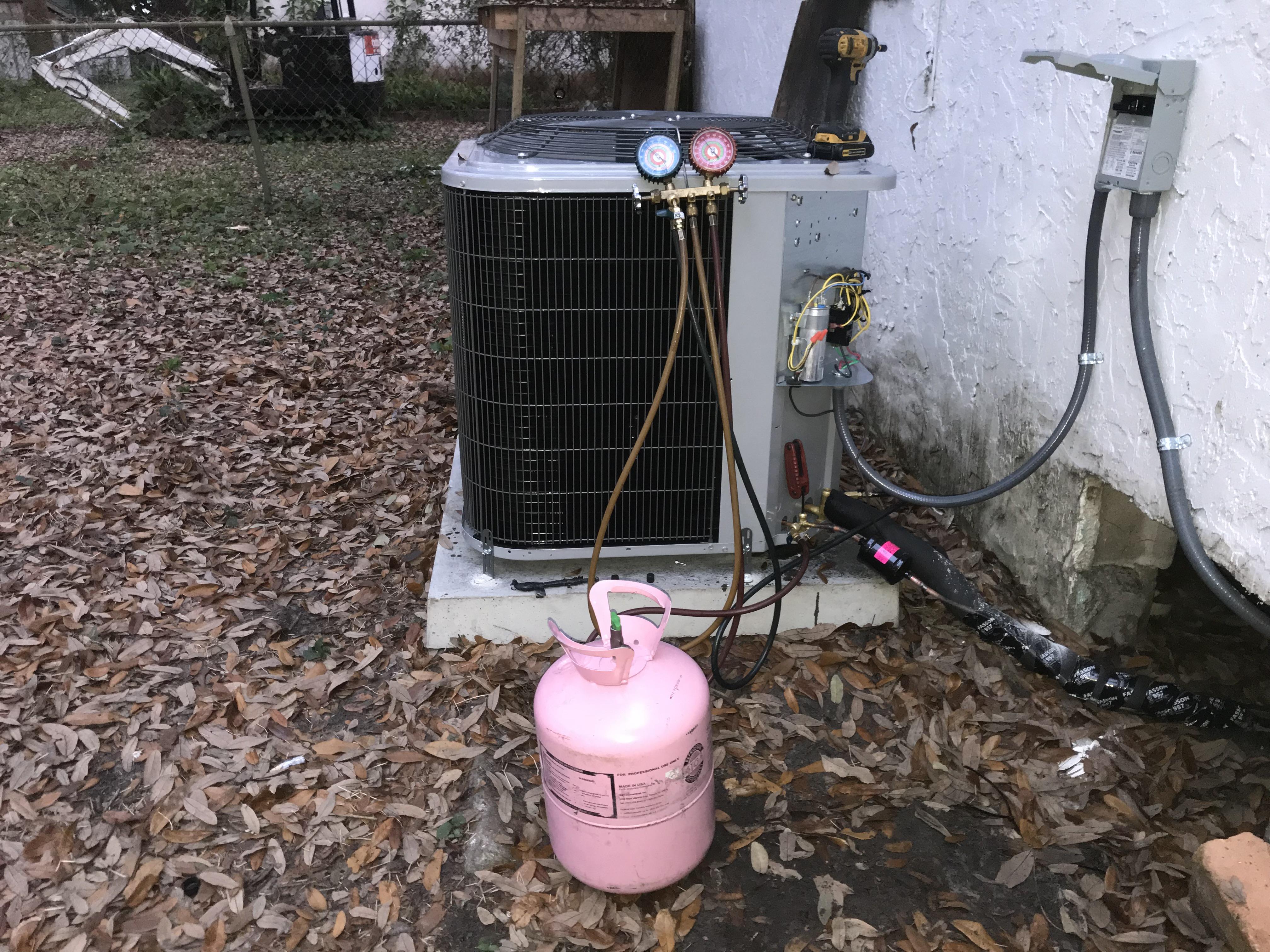 Condenser install